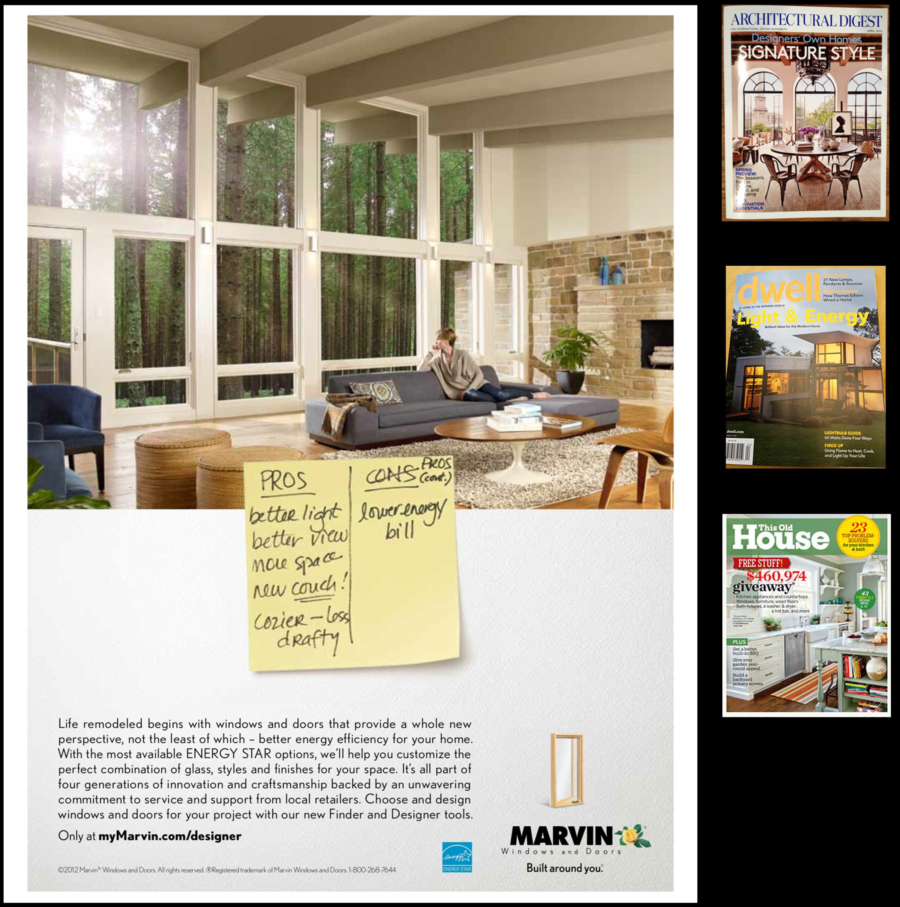2e architects window design featured in national ad for Ad house